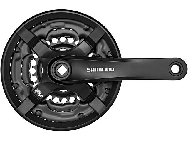 Shimano FC-TY501 Krank 6/7/8-speed 42-34-24 tænder med beskyttelsesring sort